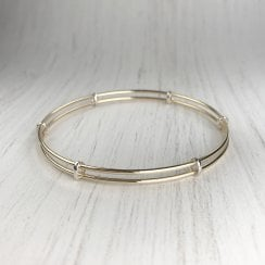 Yellow Gold Double Wire Bangle